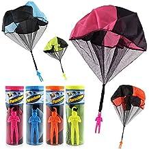 Spielzeug & Modellbau (Posten) Großhandel & Sonderposten 4 x Fallschirmspringer Spielzeug Geburtstag Tombola Mitgebsel Giveaway
