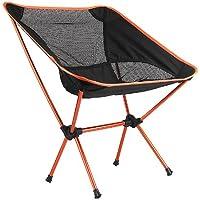 Outdoor pieghevole portatile sedia campeggio escursionismo pic-nic Barbecue-Orange