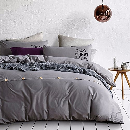 4-teiliges Set Home Textile Baumwolle Münze Kit 1,5 -1,8 m m Bettwäsche ist universal 200*230cm eingestellt, Sky-Silber, 4-teilig (Baumwoll-münzen-satz)
