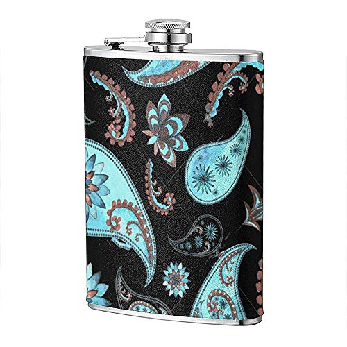 Oriental Floral Edelstahl Taschen Flachmann Soft Touch Gewickelt Und 100% Dicht Passt Asuit Für Alkohol Schuss Trinken 7OZ