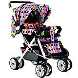 Peixia Department Store Stroller Metal Frame Plegable portátil es la Mejor opción para Viajes de Padres e Hijos. (Color : 5#)