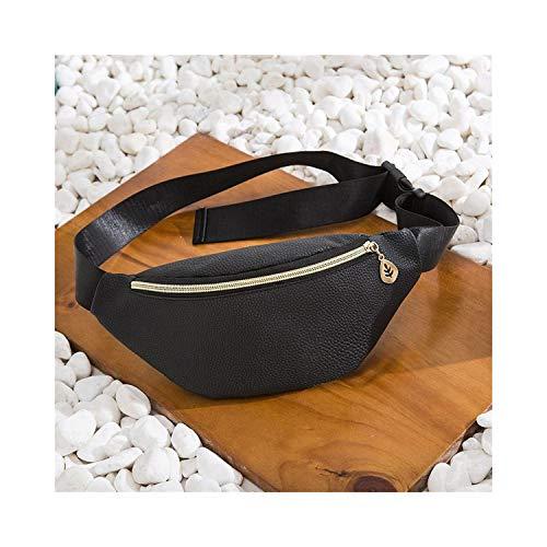 Lippenbalsam-duo-pack (Gürteltasche, Hüfttasche, Waist Bags Women Pink Silver Female Belt Bag New Black Geometric Waist Packs Laser Chest Phone Pouch Hua Duo HEI)