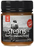 Steens UMF 15 (MGO 514) Raw Unpasteurized NZ Manuka Honey 340 Gram - with Natural Enzymes & Beebread
