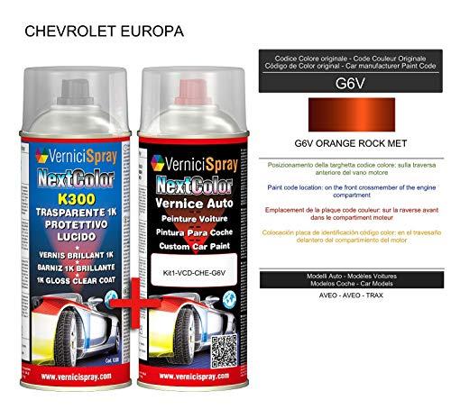 VerniciSpray Lackspray für Autos, metallisch/perlfarben, G6V Orange