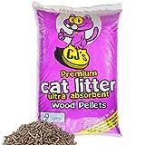 30 L - CJ's Premium Cat Litter Ultra Absorbent Wood Pellets Ideal for Cats, Rabbits, Poultry & Reptiles! Includes Tigerbox® Antibacterial Pen!