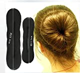 Homeoculture set of Large and small Women's Magic Foam Sponge Hairdisk Hair Device Donut Quick Messy Bun Updo Headwear