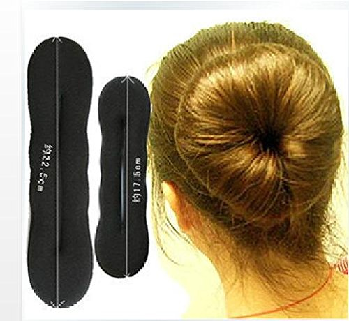 Homeoculture set of Large and small Women's Magic Foam Sponge Hairdisk Hair Device Donut Quick Messy Bun Updo Headwear  available at amazon for Rs.210