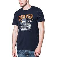 New Era Tshirt - Denver Broncos NFL Helmet Classic Tee, Navy, American Football Top.