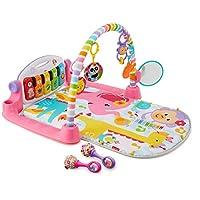Fisher-Price Deluxe Kick 'n Play Piano Gym & Maracas Bundle, Pink [Amazon Exclusive]