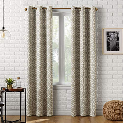 Sun Zero Barnett Trellis Blackout Grommet Curtain Panel, 40