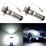 Echoming 2 X LED Nebelscheinwerfer Birnen H3 Xenon Weiß 6000K 1800LM Nebellichter 78-3014 SMD Auto Nebel-Glühbirne
