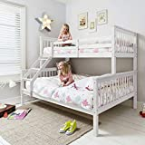 Noa and Nani - Hanna Triple Bed Bunk Bed | European Size 200cm - (White)