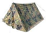 Bundeswehr Esercito Tedesco Bw Tela di Cotone per Uomo Motivo Mimetico 2Picchetti di tenda & Pali di grado 1