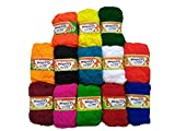 #4: Yardley Hand Knitting Art Craft Soft Fingering Crochet Hook Yarn, Needle Knitting Thread for Wool Ball Hand Knitting, Needle Knitting Thread Dyed Pack of 13 - Multicolor