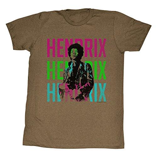 Jimi Hendrix - Herren Die Farben T-Shirt Mocha Heather
