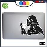 Sticker Star Wars Darth Vader für alle MacBook-Modelle 1244, Schwarz