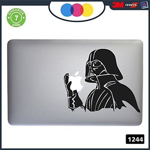 Sticker Star Wars Darth Vader für alle MacBook-Modelle 1244, Schwarz