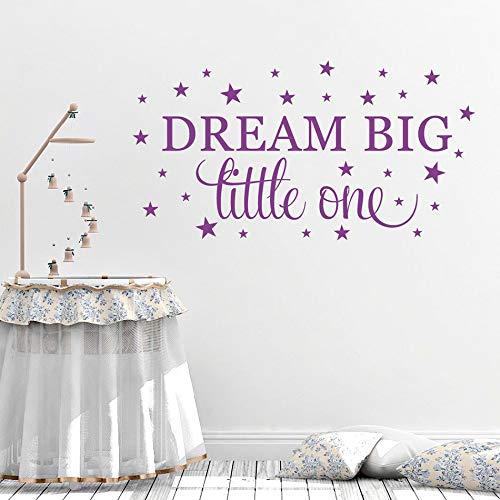 Dream Big Little One Baby Zitat Kunst Wandtattoo Sterne Vinyl Aufkleber Kinderzimmer Wandbild Kind Schlafzimmer Dekor Kindergarten Home Poster 57