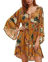 Mujer vestido Bohemian otoño ropa de playa,Sonnena Vestido largo de la manera playa de las mujeres Moda vestido sexy…