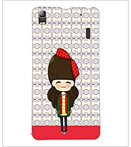 PrintDhaba Cute Doll D-5873 Back Case Cover for LENOVO K3 NOTE (Multi-Coloured)