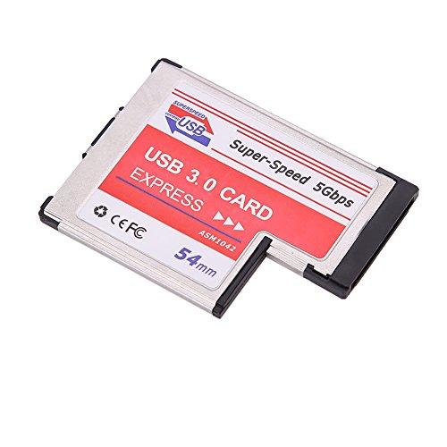 USB 3.0 Erweiterung PCMCIA Express Karte 2-Port Laptop NEC Chip Adapter