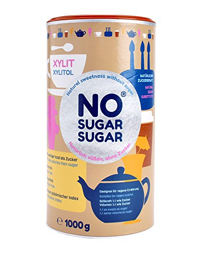 NO SUGAR SUGAR | Xylit (1 kg Dose) Zuckerersatz Low-Carb & kalorienreduziert