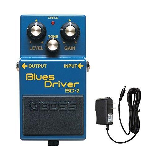 BOSS BD-2 Blues conductor pedal de distorsión con PigHog PP9V PigPower 9V CC 1000 mA Fuente de alimentación