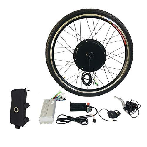"""BlackPJenny Kit di conversione Bici elettrica E 1000W 26\""""Mozzo della Bicicletta del Motore della Ruota Anteriore 48V Kit di Utensili in Lega di Alluminio Sensore di velocità della manovella"""