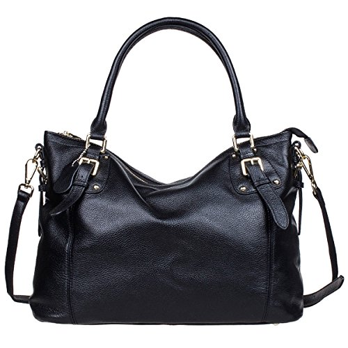 S-ZONE Womens Ladies' Vintage Genuine Soft Classic Leather Tote Hobos and Satche Crossbody Shoulder Bags 515zZuYToeL