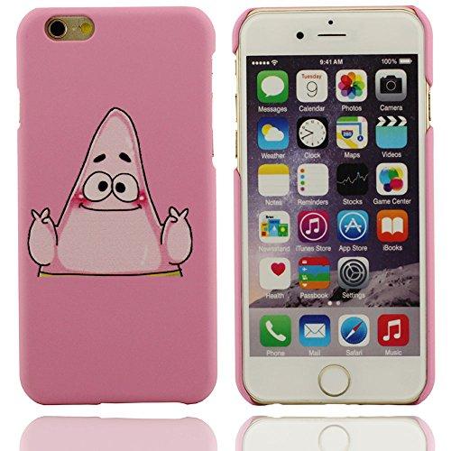 Motif de Bob l'éponge Cartoon Design unique Hard Cover Case Coque de protection en plastique pour Apple iPhone 6 6S 4.7 inch rose