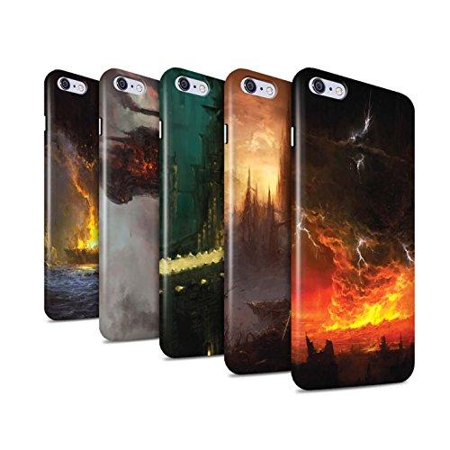 Offiziell Chris Cold Hülle / Glanz Snap-On Case für Apple iPhone 6S+/Plus / Schiffswrack Muster / Gefallene Erde Kollektion Pack 8pcs