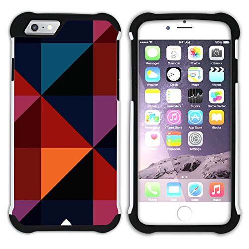Graphic4You WOOD SKIN Muster Hart + Weiche Kratzfeste Hülle Case Schale Tasche Schutzhülle für Apple iPhone 6 / 6S Design #8