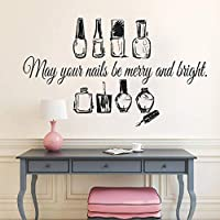 Nail Salon Beauty Quote Wall Sticker Nails Nail Art Polish Manicure Pedicure Vinyl Art Decal Beauty Salon Home Decor Decals 96x57cm
