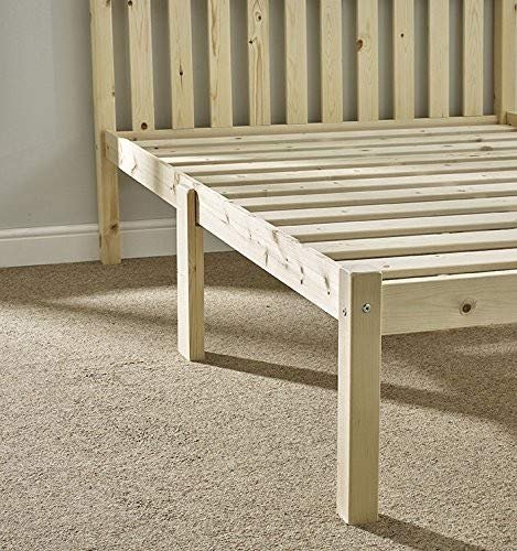 STRONG Double pine bed 4ft 6 Double bed frame - Solid Pine