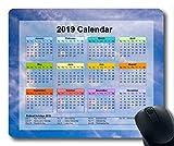 2019 Kalender mit wichtigen Feiertagspads, Mauspad, Sternenhimmel Galaxie Gaming-Mauspad