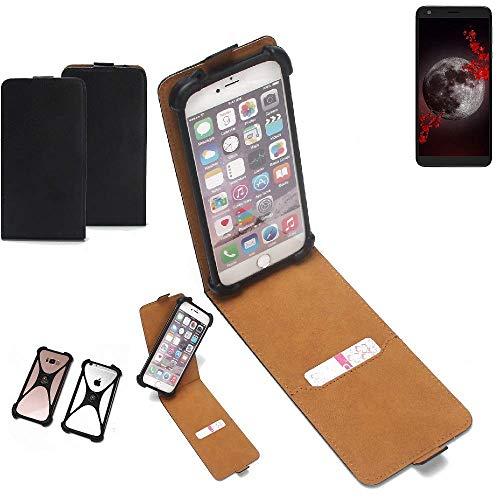 K-S-Trade Flipstyle Case für Sharp Aquos B10 Schutzhülle Handy Schutz Hülle Tasche Handytasche Handyhülle + integrierter Bumper Kameraschutz, schwarz (1x)