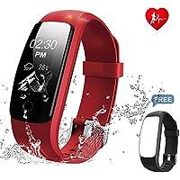 Montre Cardio,MUXI Tracker d'Activité avec Cardiofréquencemètre, Bracelet Connecté Bluetooth 4.0 Montre Smart pour Sport Fitness, Montre Connectée avec Podomètre Traqueur de Sommeil Compatible avec An