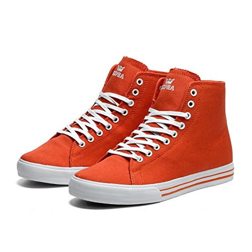 Supra Thunder High Red Canvas Rot - rot