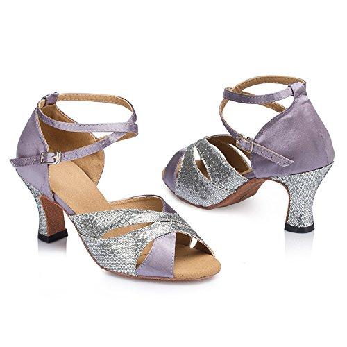 Damen Purple 8cm Tanzschuhe Heel Miyoopark O6RgnxZwZ