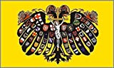 U24 Fahne Flagge Quaternionen Adler Heil. Röm. Reich Dt. Nat. Bootsflagge Premiumqualität 20 x 30 cm