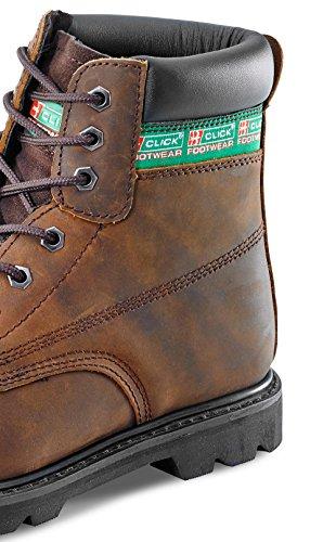 Goodwear guardolo di sicurezza SBP 6 pollici, con intersuola B-Click Footwear Marrone (marrone)