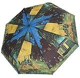 doppler Regenschirm Taschenschirm van Gogh Cafeterasse Art Collection Auf-Zu Automatik