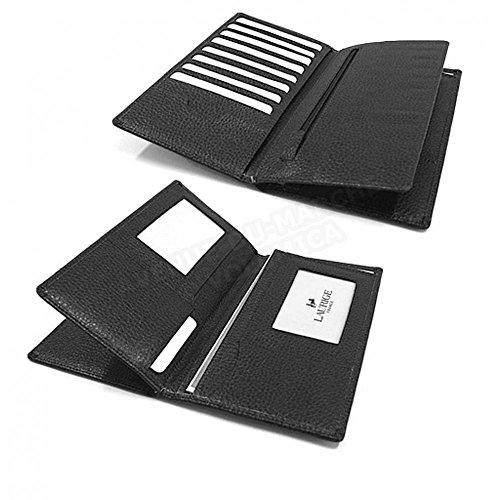 portefeuille-documents Leder Herstellung Luxe Französische Gr. one size, Schwarz - Schwarz (Leder-französische Portemonnaie Schwarze)