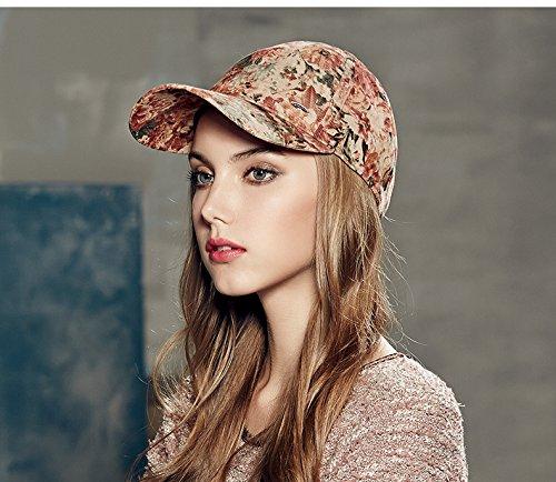 Casquette en coton Motif floral d'hiver pour filles fleur en tissu coton chapeau pour fille Béret Bonnet Chapeau pour New Fashion femelle pour filles red