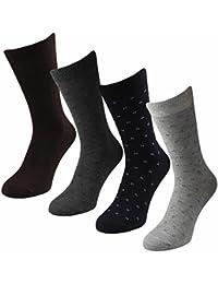 12 Paar Herren Business Classic Socken in dunklen Tönen Motiv Kästchen Qualität von Lavazio®
