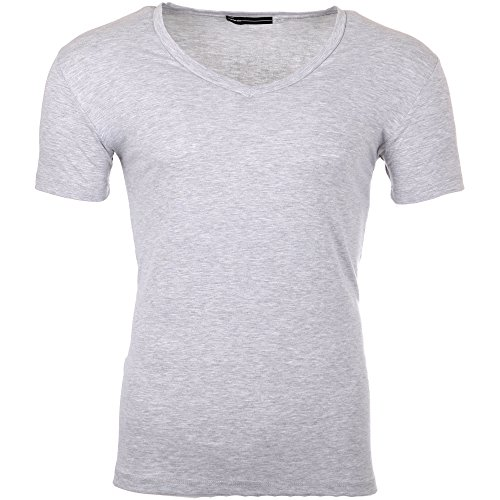 Reslad Herren V-Neck T-Shirt RS-5052 Grau 17100