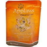 Applaws Katze Beutel Hühnchenbrust & Spargel, 12er Pack (12 x 70 g)