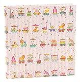 Goldbuch 15425 Babyalbum Animal Train, 64 Seiten mit Pergamin, ca. 30 x 31 cm, rosa