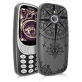 kwmobile Nokia 3310 3G 2017 / 4G 2018 Hülle - Handyhülle für Nokia 3310 3G 2017 / 4G 2018 - Handy Case in Schwarz Transparent