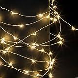 Guirlande lumineuse 100 micro LED - 10 m d' Eclairage fixe - Coloris BLANC Chaud
